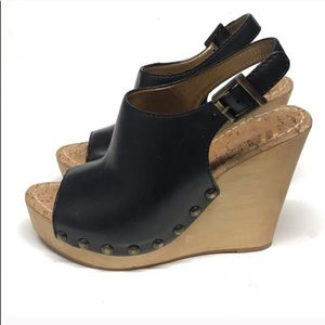 Sam Edelman Platform Sandals Size 6 Black